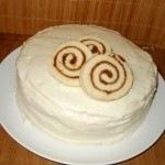 piskótatekercs torta