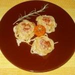 sonkás-sajtos tészta