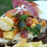 Tejfölös-mustáros tarja, őszi raguval