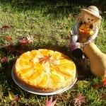 Tökös-almás borított torta