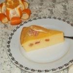 Narancsos sajttorta papayával