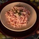 Céklás, tonhalas tészta