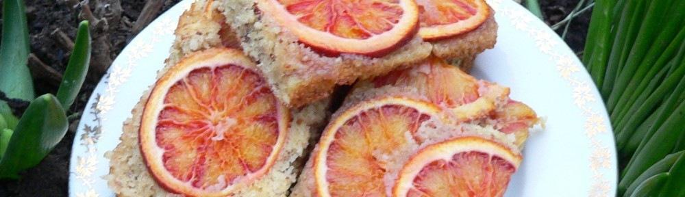 Gluténmentes vérnarancsos, mandulás sütemény