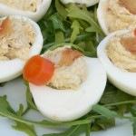 Tormakrémes töltött tojás, füstölt heringgel