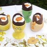 Töltött desszert tojás