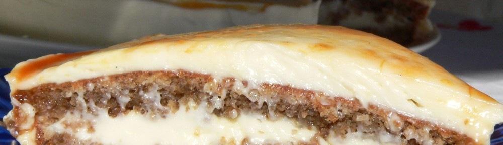 Napfény torta, avagy lisztmentes diótorta sajtkrémmel