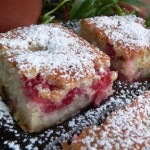 Rebarbarás epres sütemény