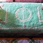 focipálya torta piskótatekercs