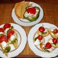 Piros, fehér, zöld vacsora