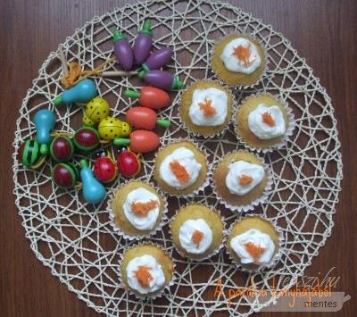 sárgarépás muffin