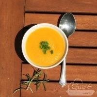 Zelleres édesburgonyapüré leves