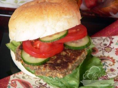 Vegán burger pogácsa
