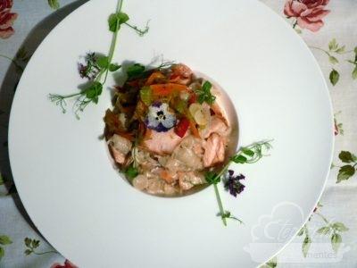 Lazacos csicseri tészta sok zöldséggel